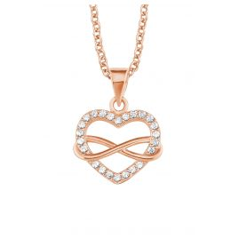 s.Oliver 2020988 Ladies' Necklace Infinite Love Rose