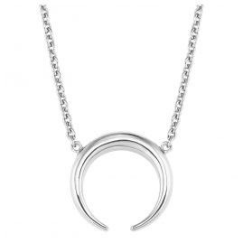 s.Oliver 2024310 Silber Damen-Halskette mit Büffelhorn-Anhänger