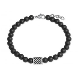 s.Oliver 2022628 Men's Bracelet Onyx Black