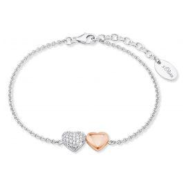 s.Oliver 2024209 Silber Damenarmband mit Herzanhänger
