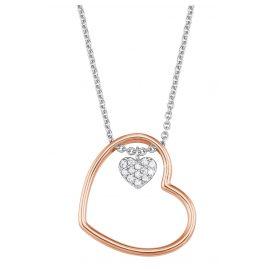s.Oliver 2024288 Silber Damen-Halskette mit Herzanhänger