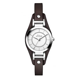 s.Oliver SO-2964-LQ Ladies Watch Brown Leather Strap