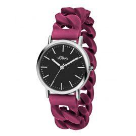 s.Oliver SO-3426-PQ Ladies Wrist Watch Wine Red