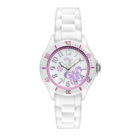 s.Oliver SO-2755-PQ Girls Watch White Butterfly
