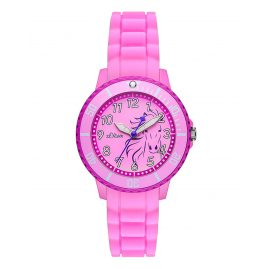 s.Oliver SO-2987-PQ Girls Watch Pink Horse