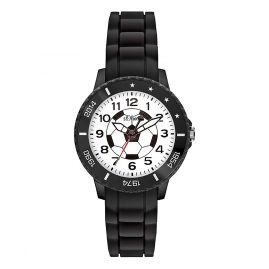 s.Oliver SO-3525-PQ Boys Football Watch Black