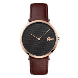 Lacoste 2010952 Mens Watch Brown Leather Strap Moon