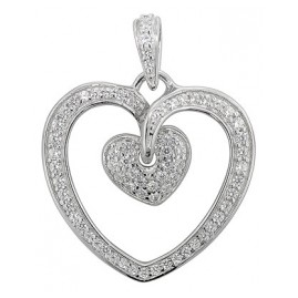 trendor 80227 Silber Herz Anhänger