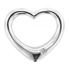 trendor 80289 Silber Durchzieh-Herz groß