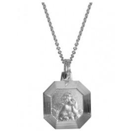 trendor 63942 Silber-Halskette mit Amor-Anhänger