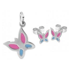 trendor 63935 Silber Kinder-Set Schmetterling