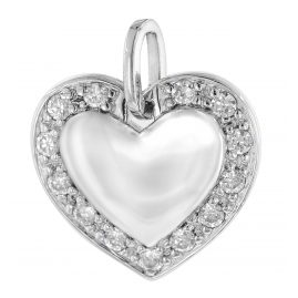 trendor 64413 Silber-Anhänger Herz