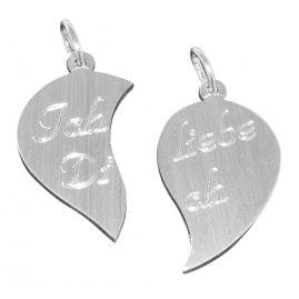 trendor 86397 Silber-Anhänger geteiltes Herz