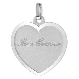 trendor 87271 Silber Anhänger Gravurplatte Herz
