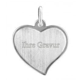 trendor 87288 Silber Gravurplatte Herz-Anhänger
