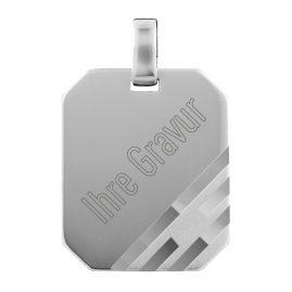 trendor 87295 Silber Gravurplatte Anhänger