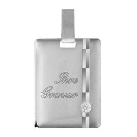 trendor 87356 Silber Gravurplatte