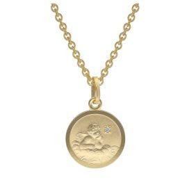 trendor 73600 Gold Engel-Anhänger mit Diamant für Kinder