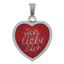 """trendor 78759 Herz-Anhänger """"Ich liebe Dich"""" Silber 925"""