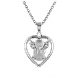 trendor 78629 Silber-Halskette mit Schutzengel-Anhänger für Kinder