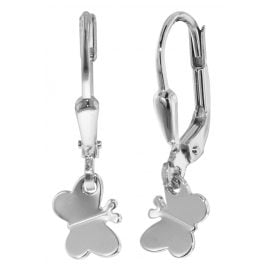 trendor 35832 Silver Kids Earrings Butterfly