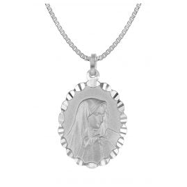 trendor 35853 Our Lady of Sorrows Pendant Silver Necklace