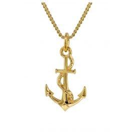 trendor 35801 Gold-Anhänger Anker mit 42 cm goldplattierter Halskette