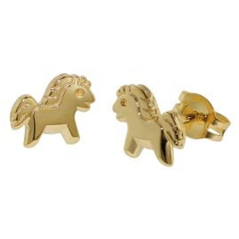 trendor 35806 Kinder Gold-Ohrringe Pony