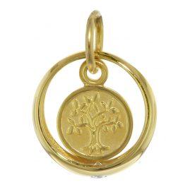 trendor 08275 Gold Taufring mit Lebensbaum