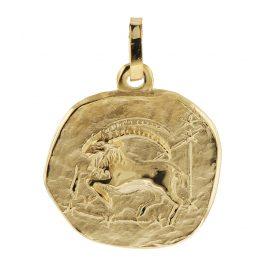 trendor 08725 Sternzeichen-Anhänger Steinbock Gold 333