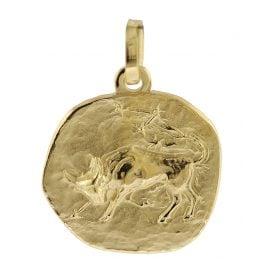 trendor 08729 Sternzeichen-Anhänger Stier 333 Gold 16 mm
