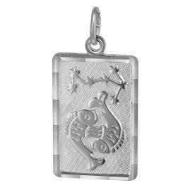 trendor 08739 Sternzeichen-Anhänger Fische Silber