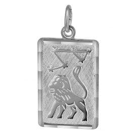 trendor 08744 Sternzeichen-Anhänger Löwe Silber