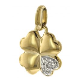 trendor 08723 Anhänger Kleeblatt Gold 333