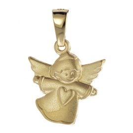 trendor 08757 Kinder Engel-Anhänger Gold 585