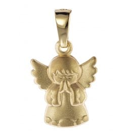 trendor 08758 Childrens Angel Pendant Gold 585/14 ct