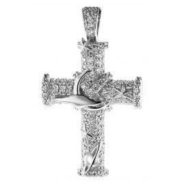 trendor 08837 Kreuz Anhänger Weißgold 585 Zirkonia