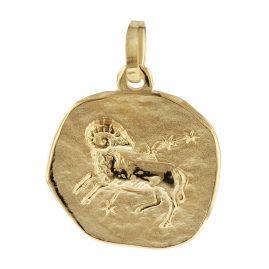 trendor 08961 Sternzeichen-Anhänger Widder Gold 585