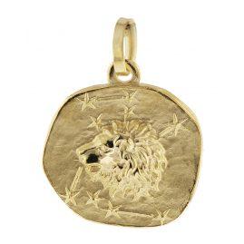 trendor 08965 Sternzeichen-Anhänger Löwe 585 Gold 16 mm