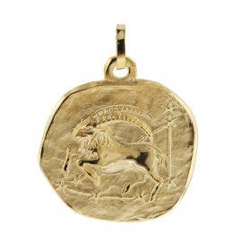 trendor 08982 Sternzeichen-Anhänger Steinbock 333 Gold 20 mm