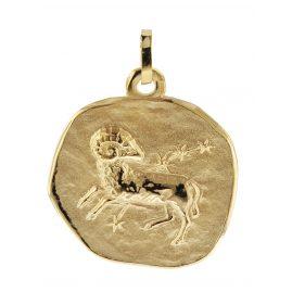 trendor 08985 Sternzeichen-Anhänger Widder 333 Gold 20 mm