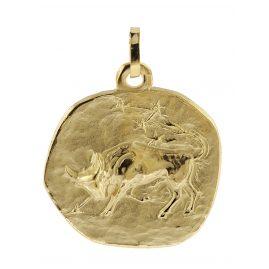 trendor 08986 Sternzeichen-Anhänger Stier 333 Gold 20 mm