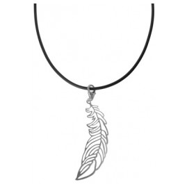 trendor 63522 Collier mit großer Silber-Feder