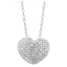 trendor 66288 Silver Necklace Heart