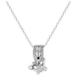 trendor 65106 Silber Collier Schmetterling