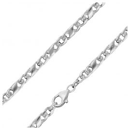 trendor 86151 Silber Dollarkette für Herren