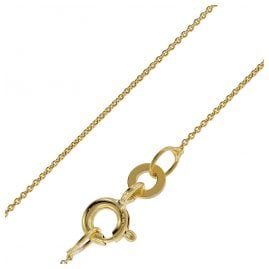 trendor 72405 Necklace For Pendants 333 Gold Round Anchor Chain 0.8 mm