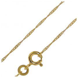 trendor 72450 Halskette Gold 333 Singapur-Muster