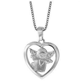 trendor 79046 Silber-Collier Herz mit Engel