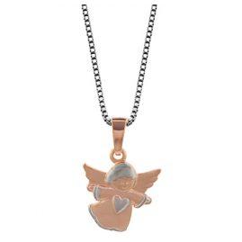 trendor 79091 Silberkette mit Bicolor-Engel